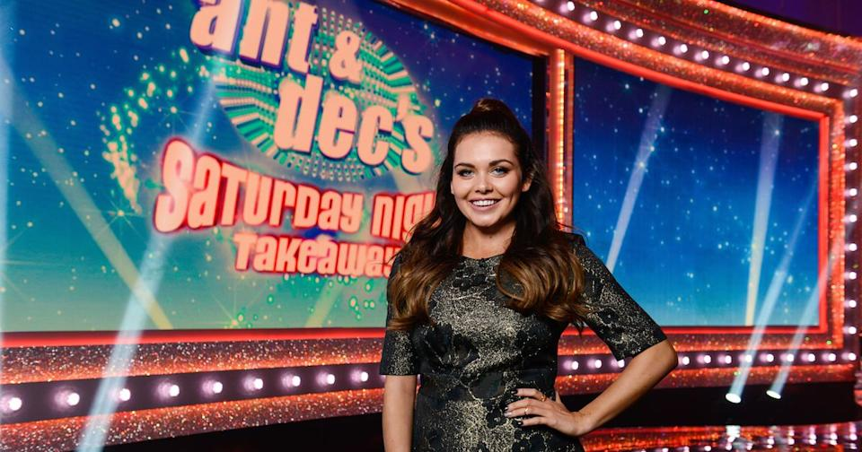 Scarlett Moffatt spent two years as a co-presenter on 'Ant & Dec's Saturday Night Takeaway'. (Credit: ITV)