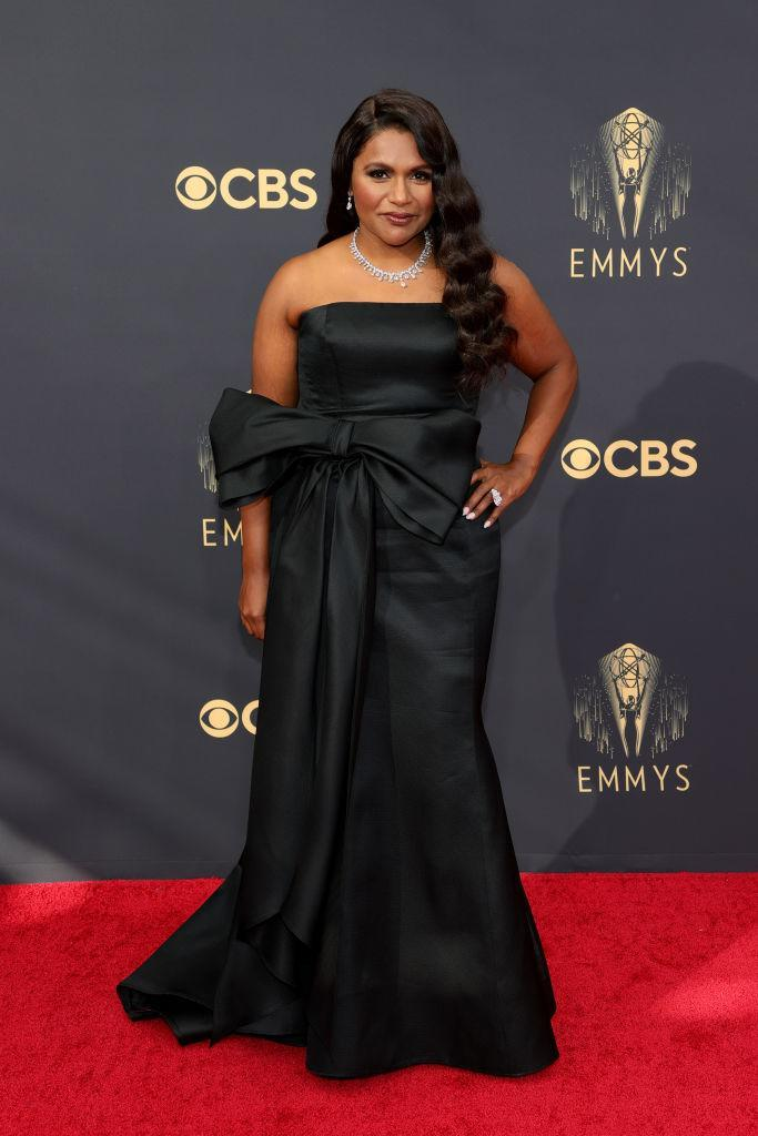 Mindy Kaling attends the 73rd Primetime Emmy Awards on Sept. 19 at L.A. LIVE in Los Angeles. (Photo: Rich Fury/Getty Images)