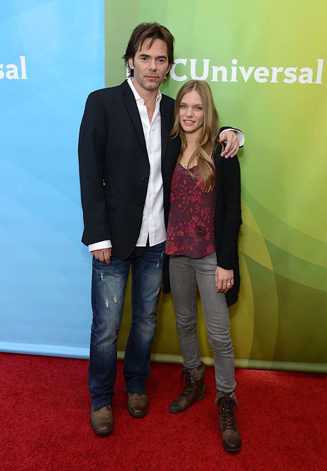"Billy Burke and Tracy Spiridakos attend NBCUniversal's ""2013 Winter TCA Tour"" Day 1 at Langham Hotel on January 6, 2013 in Pasadena, California."