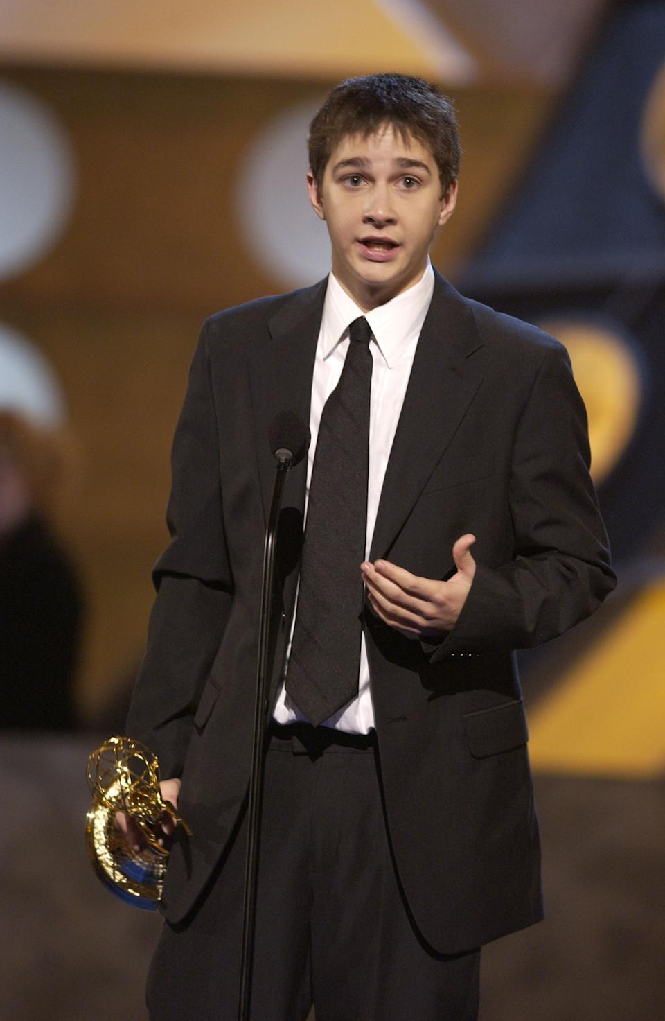 Shia LaBeouf, Best Performer In A Childrens Series (Photo by Marc Bryan-Brown/WireImage)