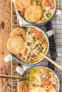 "<p>Think of this soup as a classic chicken pot pie—but <em>so</em> much easier to prepare. In fact, this recipe is so good, you might never make another version again.</p><p><strong>Get the recipe at <a href=""https://www.thecookierookie.com/chicken-pot-pie-soup/"" rel=""nofollow noopener"" target=""_blank"" data-ylk=""slk:The Cookie Rookie"" class=""link rapid-noclick-resp"">The Cookie Rookie</a>.</strong></p>"