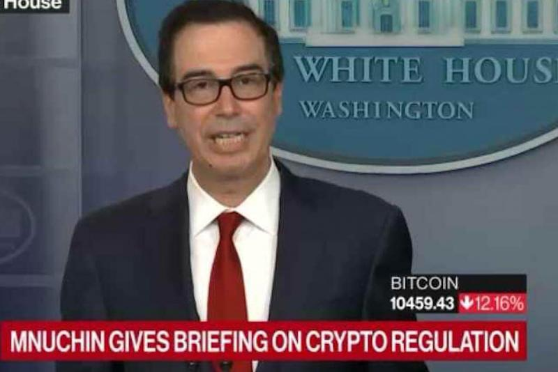 Crypto is a 'national security issue', says US treasury secretary