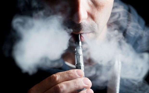 Concerns have been raised that non-smokers could become addicted to nicotine if they startvaping - Copyright (c) 2013 Rex Features. No use without permission.