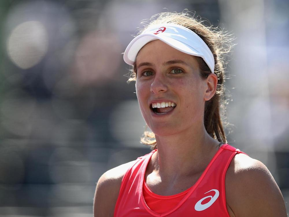 British number one Konta is into the semi-finals of the Miami Open (Getty)