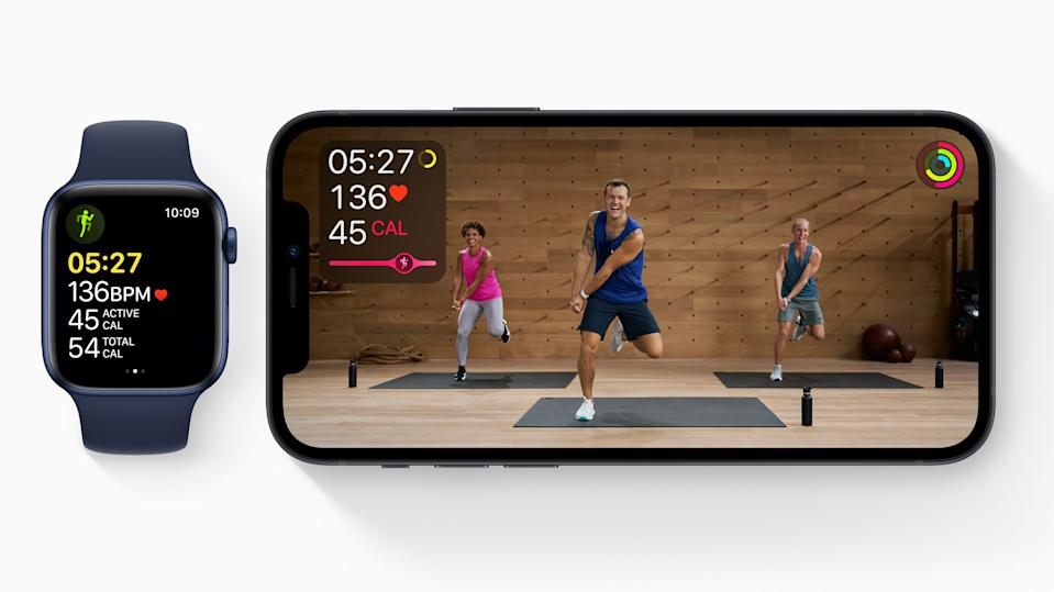 Apple Fitness+ provides a wide range of exercise methods for people of every experience level, making it an ideal choice for going to the gym. Picture: Apple)
