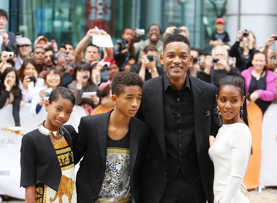 Jada Pinkett Smith (pictured with her family in 2012) hit out at YouTuber Shane Dawson. (Photo: Michael Tran/FilmMagic)