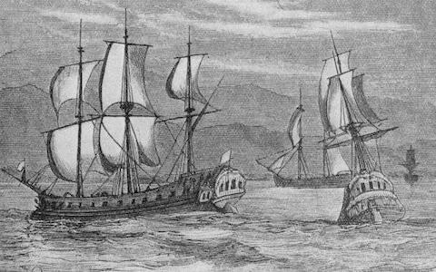 The First Fleet - Credit: Hulton Archive