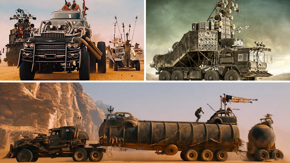 The vehicles from Mad Max Fury Road which are being sold as part of a collection.