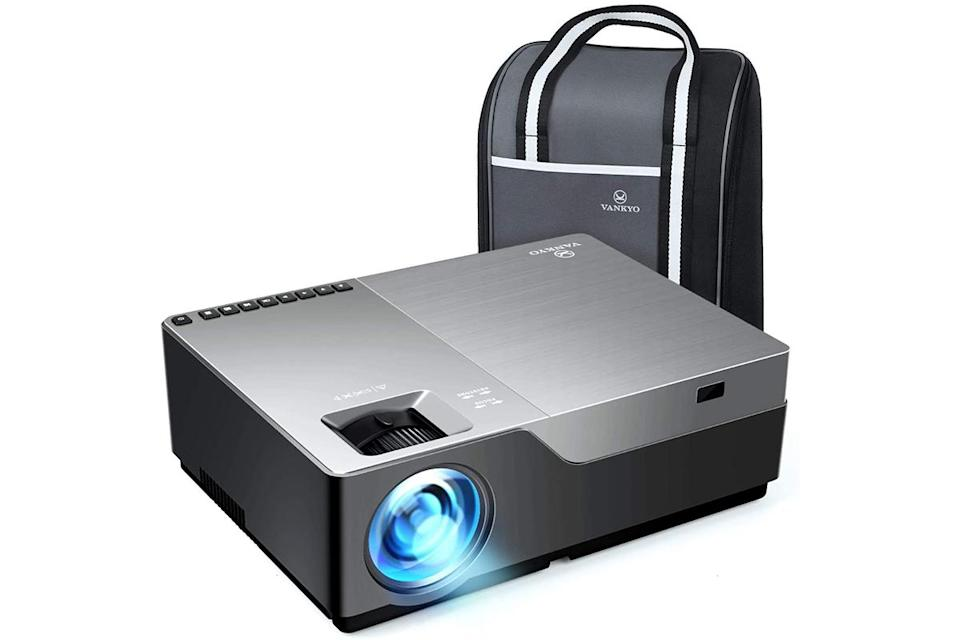a Vankyo projector and its case