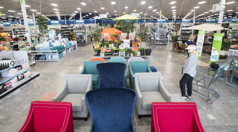 FOOTHILL RANCH, CA - MARCH 28: The new At Home store in Foothill Ranch, CA will have its official opening on Saturday, March 30, 2019. The 75,000 square foot store promotes itself as a home decor superstore. (Photo by Paul Bersebach/MediaNews Group/Orange County Register via Getty Images)