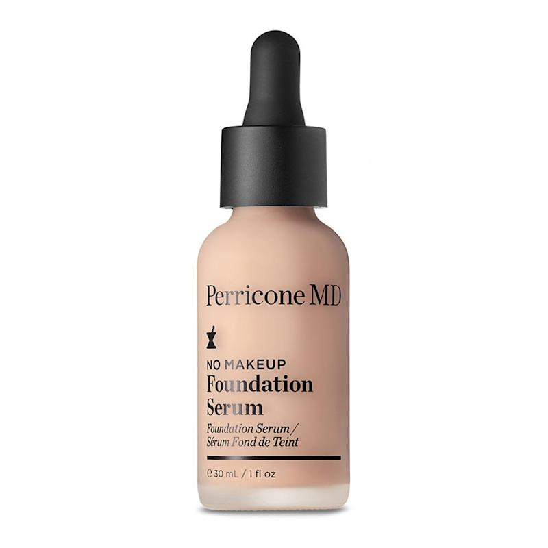 Perricone MD No Makeup Foundation Serum features SPF 20, and skin improving agents to reduce the appearance of fine lines and wrinkles.
