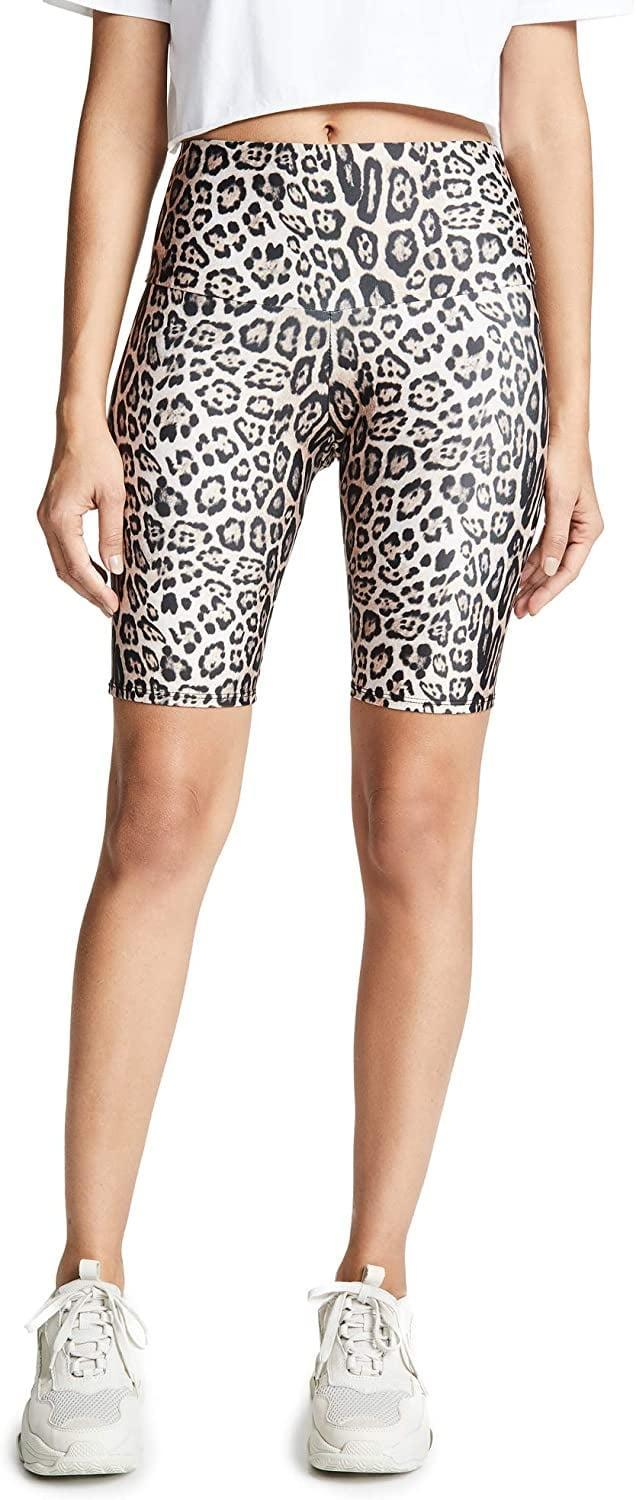 <p>We love the animal print on these <span>Onzie High Rise Bike Shorts</span> ($53).</p>