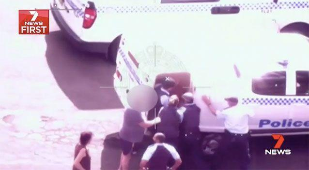 Danny Bruce was arrested after pulling a knife on a nurse at his Sydney home. Picture: 7 News