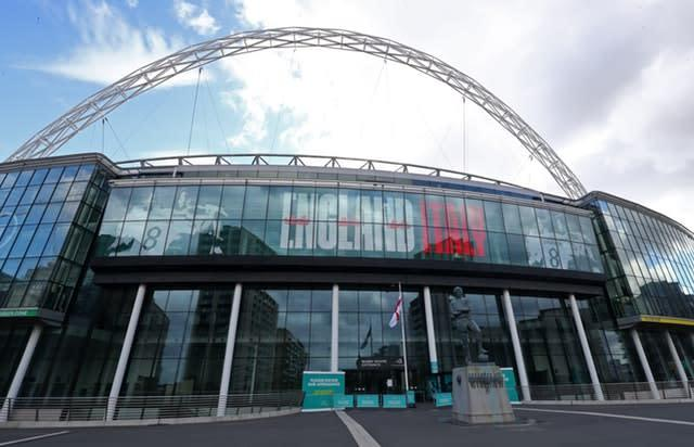 Wembley is due to host the semi-finals and final (Bradley Collyer/PA)