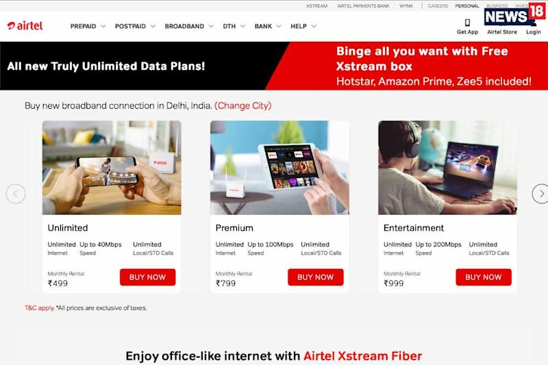 JioFiber Effect: Airtel Xstream Broadband Adds Unlimited Data For All Plans & Gets New Rs 499 Plan