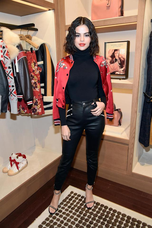 Selena Gomez at Coach Boutique on Sept. 13. (Photo: Getty Images)