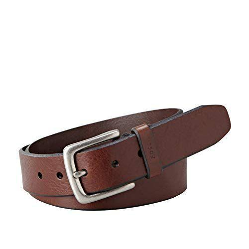 """<p><strong>Fossil</strong></p><p>amazon.com</p><p><strong>$38.00</strong></p><p><a href=""""https://www.amazon.com/dp/B006J6QTZ4?tag=syn-yahoo-20&ascsubtag=%5Bartid%7C2139.g.36521961%5Bsrc%7Cyahoo-us"""" rel=""""nofollow noopener"""" target=""""_blank"""" data-ylk=""""slk:BUY IT HERE"""" class=""""link rapid-noclick-resp"""">BUY IT HERE</a></p><p>With a wide range of sizes available, this brown leather pick is the ultimate everyday piece. If the ratings are any indication, this durable staple will stick around for years to come: """"I've been wearing Fossil's Joe belts for about five years, and they are the best,"""" writes one reviewer. """"They don't flake like the bonded leather belts do, and they hold their shape."""" <br></p>"""