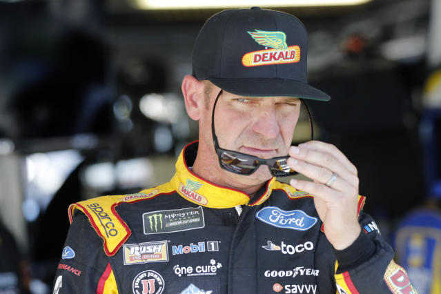 """<a class=""""link rapid-noclick-resp"""" href=""""/nascar/sprint/drivers/1119/"""" data-ylk=""""slk:Clint Bowyer"""">Clint Bowyer</a> is 11th in the points standings heading into the final race of the second round. (AP Photo/Colin E. Braley)"""