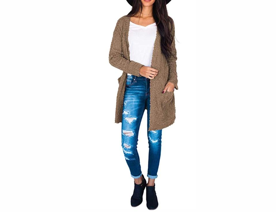 In a neutral shade, this cardigan literally goes with everything. (Photo: Amazon)