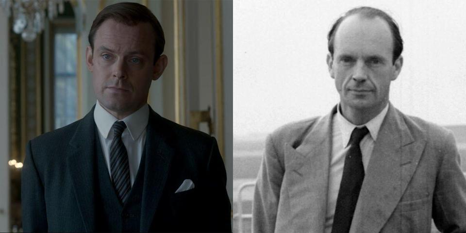 <p>If this face looks familiar, chances are you have seen <em>Downton Abbey</em> and are very familiar with Bertie Pelham, Lady Edith's husband. Meet actor Harry Hadden Paton, who plays Martin Charteris, Queen Elizabeth II's assistant private secretary (under Michael Adeane) for 20 years. He was eventually promoted to private secretary when Adeane retired.</p>