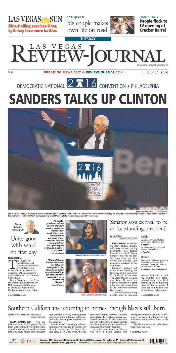 <p>Published in Las Vegas, Nev. USA. (newseum.org)</p>