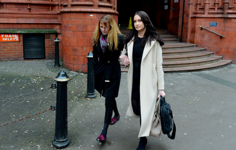 Lawford (left) pleaded guilty to boarding more than the maximum number of three small dogs allowed at her kennels (SWNS)