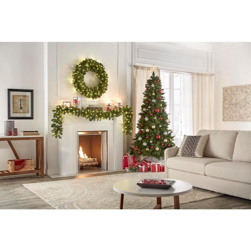 """<p><strong>Home Accents Holiday</strong></p><p>homedepot.com</p><p><strong>$108.00</strong></p><p><a href=""""https://go.redirectingat.com?id=74968X1596630&url=https%3A%2F%2Fwww.homedepot.com%2Fp%2FHome-Accents-Holiday-7-5-ft-Unlit-Wesley-Spruce-Artificial-Christmas-Tree-TG76M5416X01%2F305123769&sref=https%3A%2F%2Fwww.housebeautiful.com%2Fentertaining%2Fholidays-celebrations%2Fg4010%2Fbest-artificial-christmas-trees%2F"""" rel=""""nofollow noopener"""" target=""""_blank"""" data-ylk=""""slk:BUY NOW"""" class=""""link rapid-noclick-resp"""">BUY NOW</a></p><p>This spruce tree comes unlit so you can choose whatever lights you'd like, and it's made with <a href=""""https://www.housebeautiful.com/entertaining/holidays-celebrations/a29370039/artificial-christmas-tree-buying-guide/"""" rel=""""nofollow noopener"""" target=""""_blank"""" data-ylk=""""slk:both PVC and PE branches"""" class=""""link rapid-noclick-resp"""">both PVC and PE branches</a> to ensure it looks as realistic, full, and textured as possible. </p>"""