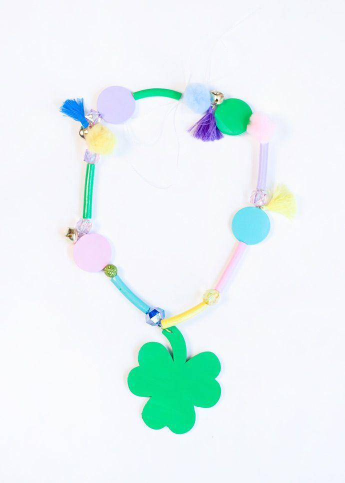 """<p>A little extra good fortune is always a good idea. These sweet necklaces will have you feeling lucky all day long.</p><p><strong>Get the tutorial at <a href=""""https://www.handmadecharlotte.com/st-patricks-day-good-luck-charm-necklace/"""" rel=""""nofollow noopener"""" target=""""_blank"""" data-ylk=""""slk:Handmade Charlotte"""" class=""""link rapid-noclick-resp"""">Handmade Charlotte</a>.</strong></p><p><a class=""""link rapid-noclick-resp"""" href=""""https://go.redirectingat.com?id=74968X1596630&url=https%3A%2F%2Fwww.walmart.com%2Fsearch%2F%3Fquery%3Dbeads&sref=https%3A%2F%2Fwww.thepioneerwoman.com%2Fhome-lifestyle%2Fcrafts-diy%2Fg35012898%2Fst-patricks-day-crafts%2F"""" rel=""""nofollow noopener"""" target=""""_blank"""" data-ylk=""""slk:SHOP BEADS"""">SHOP BEADS</a></p>"""