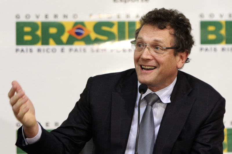 "FILE - In this Jan. 16, 2012 file photo, FIFA Secretary General Jerome Valcke speaks at a news conference in Brasilia, Brazil. The sports minister of Brazil announced at a Saturday March 3, 2012 news conference that they refuse to deal with with Valcke following his ""unacceptable"" criticism over the country's preparations for the 2014 World Cup. The minister called for FIFA to assign another official to work with the government. Valcke responded by calling the move juvenile. (AP Photo/Fabio Pozzebom, File)"
