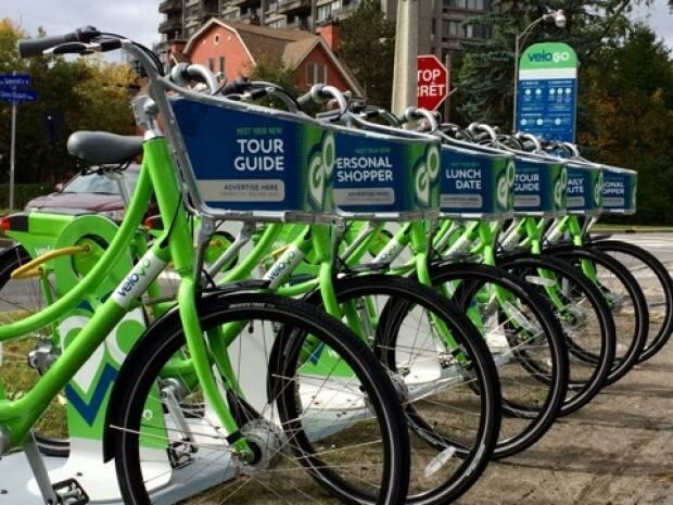 Ottawa has had bike-sharing programs in the past, ending with VeloGo in 2018. (CycleHop - image credit)