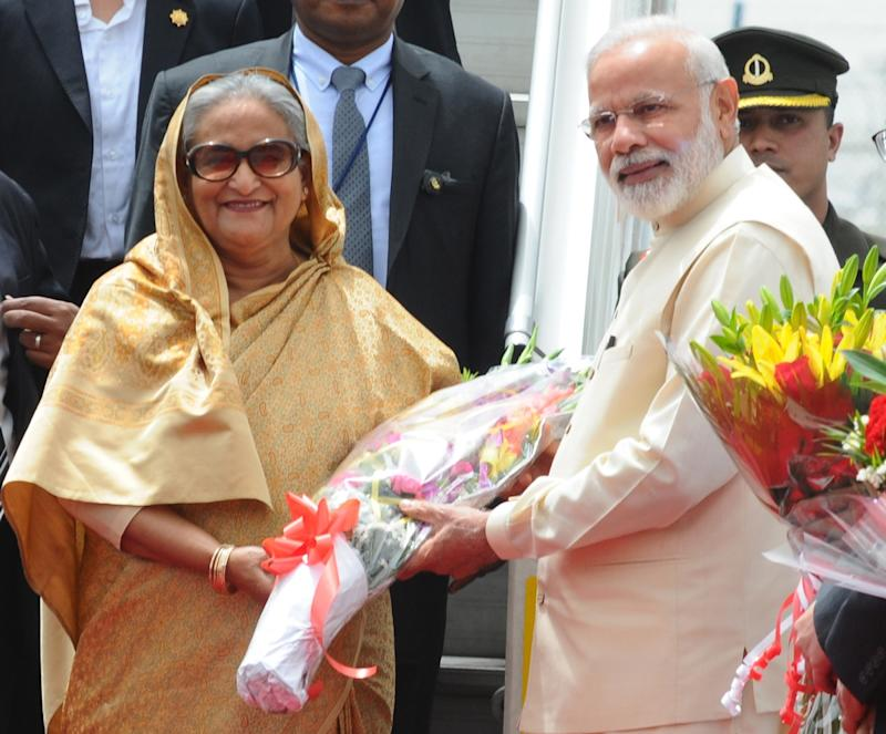 When PM Narendra Modi and Bangladesh PM Sheikh Hasina were asked to 'step down,' literally!