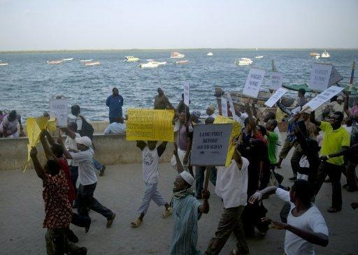 Lamu residents say the huge port, although located some 10 kilometres (six miles) from the UNESCO-listed island, will impact on their livelihoods and accuse the government of ignoring their concerns