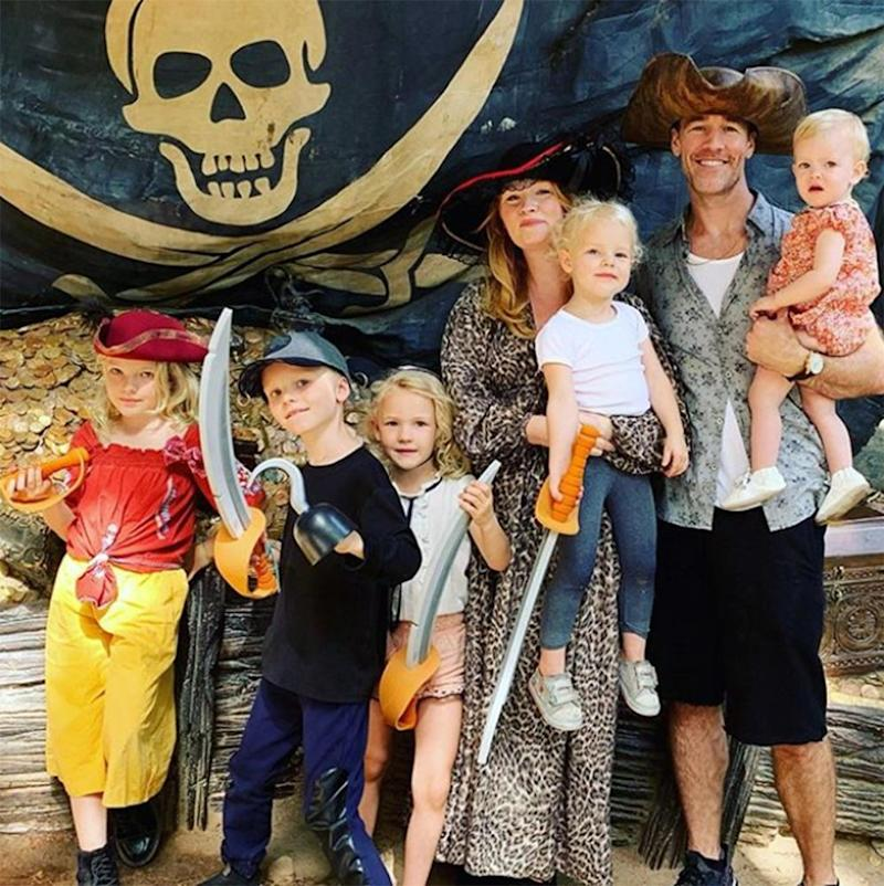 James and Kimberly Van Der Beek with their five children | James Van Der Beek/Instagram