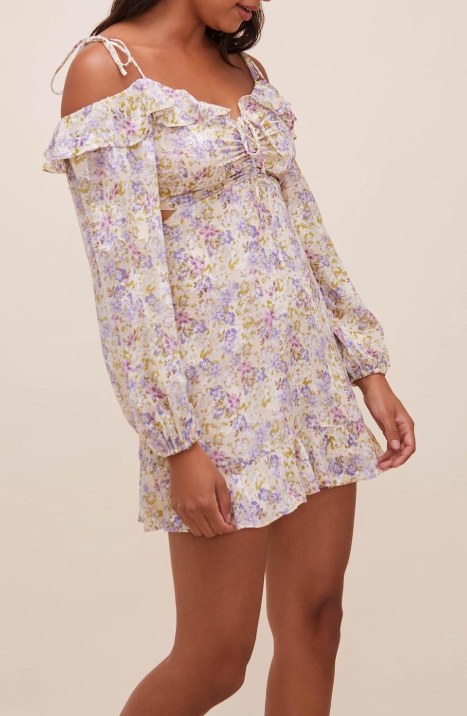 <p>This <span>ASTR the Label Anastasia Long Sleeve Cutout Minidress</span> ($118) is a fresh and modern pick for spring outings.</p>