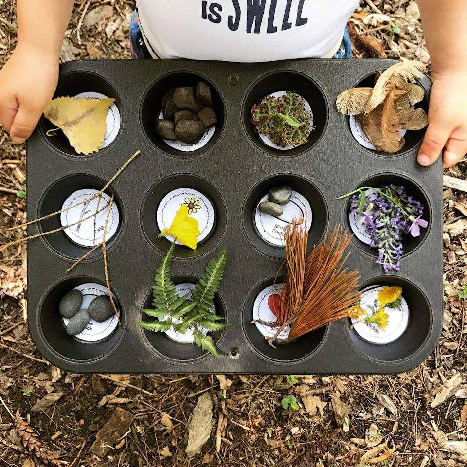 "<p>Get your little explorer to take a good look at backyard nature with a scavenger hunt. You can look for different types of flowers and trees, try to identify birds, or collect different types of rocks and stones.</p><p><a href=""http://www.goodhousekeeping.com/life/parenting/g32050844/scavenger-hunt-ideas-for-kids/"" rel=""nofollow noopener"" target=""_blank"" data-ylk=""slk:Find ideas for 22 different scavenger hunt themes »"" class=""link rapid-noclick-resp""><em>Find ideas for 22 different scavenger hunt themes »</em></a></p>"