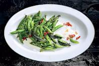 """If you're eager to get grilling at the start of the season, this charred <a href=""""https://www.epicurious.com/ingredients/3-kinds-of-peas-14-great-recipes-gallery?mbid=synd_yahoo_rss"""" rel=""""nofollow noopener"""" target=""""_blank"""" data-ylk=""""slk:peas"""" class=""""link rapid-noclick-resp"""">peas</a> recipe is perfect for you. The aioli is luscious, tangy, and delicious. <a href=""""https://www.epicurious.com/recipes/food/views/charred-sugar-snap-peas-with-buttermilk-aioli-51241900?mbid=synd_yahoo_rss"""" rel=""""nofollow noopener"""" target=""""_blank"""" data-ylk=""""slk:See recipe."""" class=""""link rapid-noclick-resp"""">See recipe.</a>"""