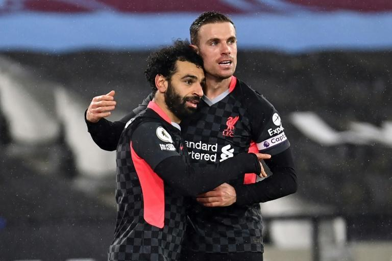 Mohamed Salah scored twice for Liverpool against West Ham