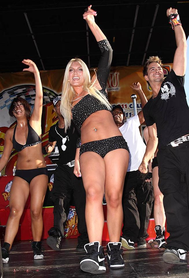 """Who taught Brooke Hogan to dress herself? More importantly, who told her that she could ever become a prosperous pop star? John Parra/<a href=""""http://www.wireimage.com"""" target=""""new"""">WireImage.com</a> - March 15, 2009"""