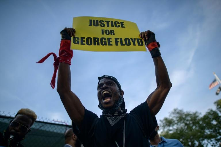 The death of Floyd, a 46-year-old Black man, in May 2020 sparked America's biggest demonstrations for racial justice in decades (AFP/Ed JONES)
