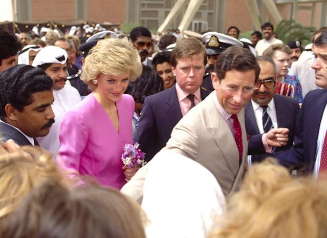 Prince Diana, Ken Wharfe and Prince Charles in 1989. [Photo: Getty]