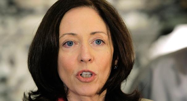 Sen. (D) Maria Cantwell speaks during an interview. (AP photo)