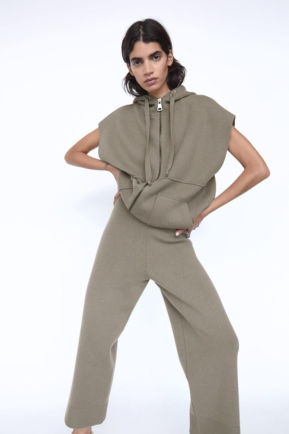 """<p>""""I'm fully aware these <span>Zara High-Waisted Knit Pants</span> ($50) toe the line between loungewear and streetwear, and that's exactly what I need this fall. These fancy sweatpants are great for wearing around the house, but also structured enough to dress up as a real outfit with a flattering bodysuit or fitted tee.""""</p>"""