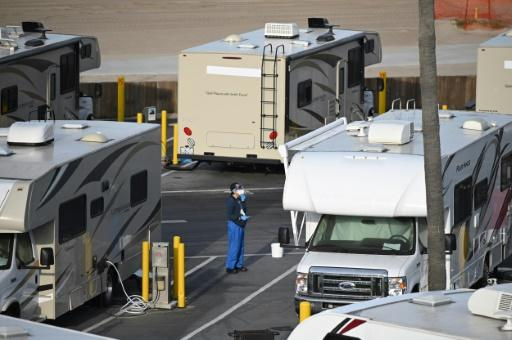 The mobile homes are available for homeless COVID-19 patients, in the US state with the country's highest level of homelessness