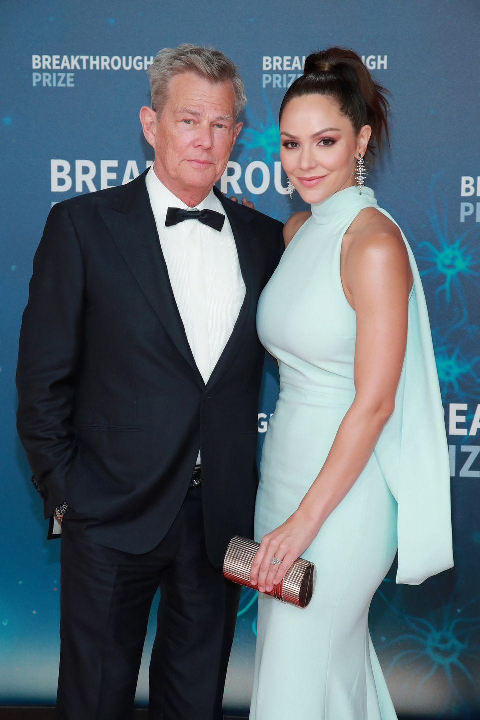 "<p>David Foster was fresh off of his divorce from Yolanda Hadid when he and Katharine McPhee revealed their relationship. Katharine's fans were relatively calm about it—until she announced their engagement on July 3, 2018. The singer <a href=""https://twitter.com/katharinemcphee/status/1015365879712763905"" rel=""nofollow noopener"" target=""_blank"" data-ylk=""slk:clapped back on Twitter"" class=""link rapid-noclick-resp"">clapped back on Twitter</a>, writing, ""Y'all should be worrying more about registering to vote and midterm elections than who's marrying me. Thank you for coming to my TED talk.""</p>"