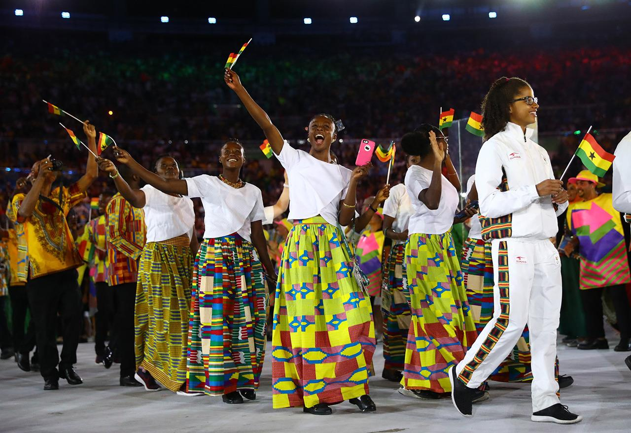 <p>Ghana knows how to mix prints. The white shirts and bright printed skirts would have fit right in with any fashion week.</p><p><i>(Photo: Reuters)</i><br /></p>