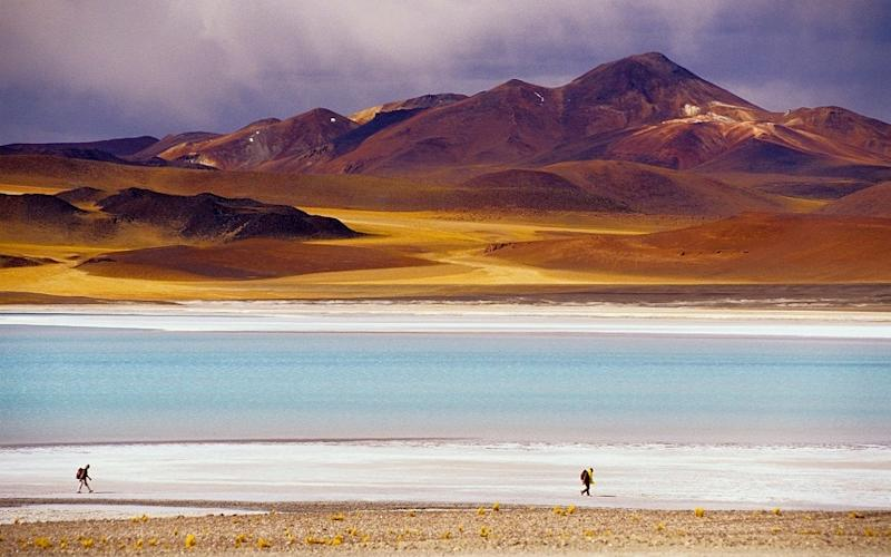 Lago Tuyajito in the Atacama Desert - This content is subject to copyright.