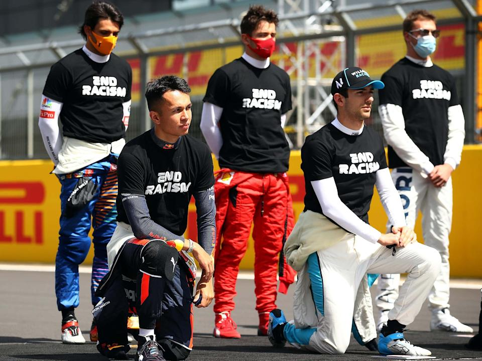 Charles Leclerc has hit out at those who have labelled him a 'racist' for not taking a knee: Getty