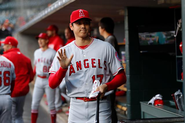 "<a class=""link rapid-noclick-resp"" href=""/mlb/teams/la-angels/"" data-ylk=""slk:Los Angeles Angels"">Los Angeles Angels</a>' <a class=""link rapid-noclick-resp"" href=""/mlb/players/10835/"" data-ylk=""slk:Shohei Ohtani"">Shohei Ohtani</a> is back and ready to be a fantasy force. (AP Photo)"