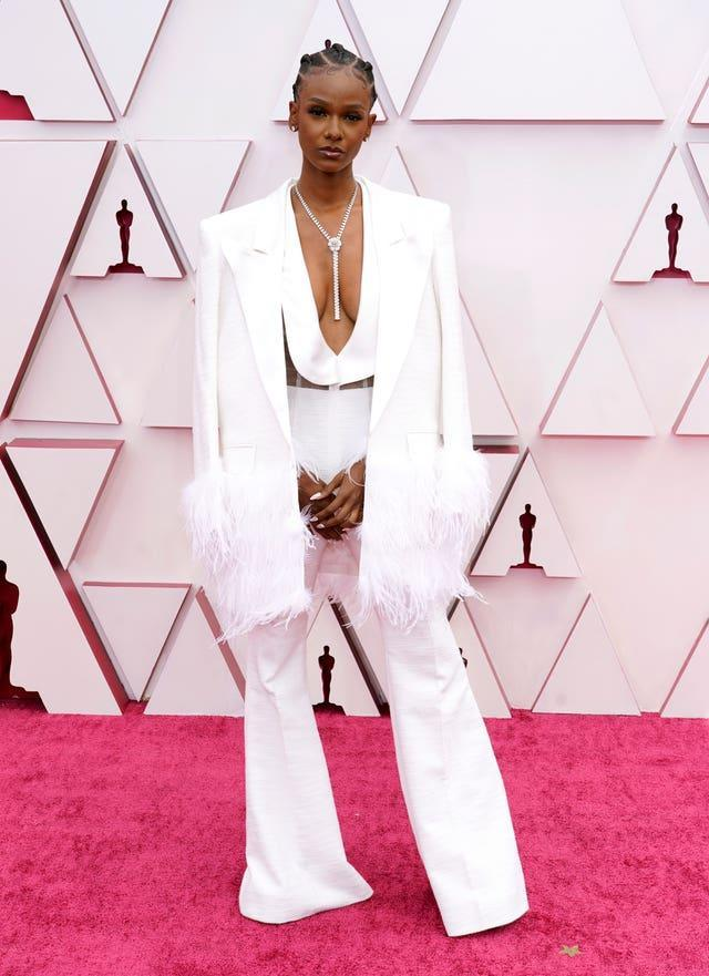 Tiara Thomas at the 93rd Academy Awards