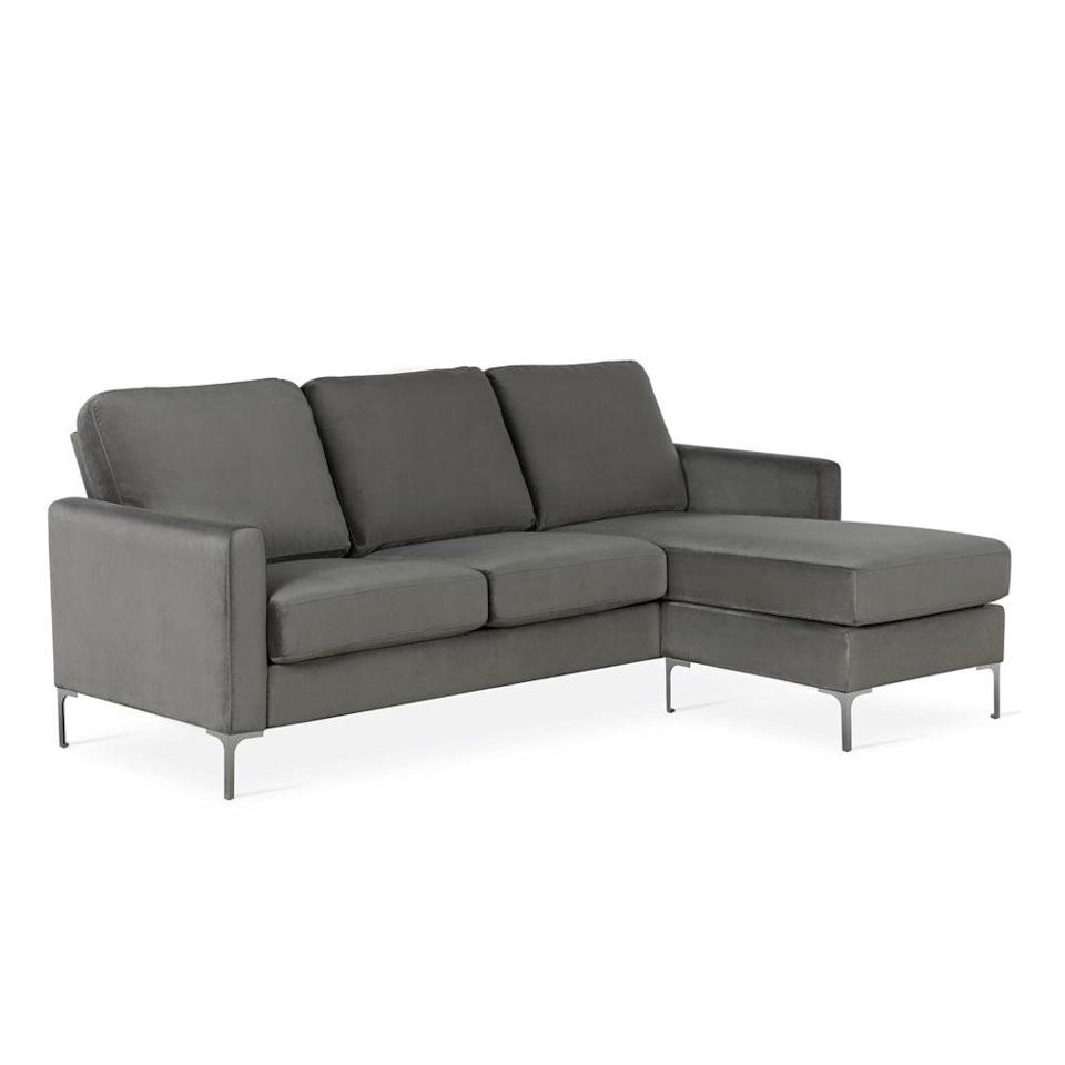 <p>This <span>Novogratz Chapman Sectional Sofa</span> ($484) has plenty of space for your leisure naps, reading or lounging.</p>